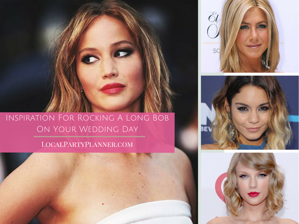 Inspiration For Rocking A Long Bob On Your Wedding Day ...