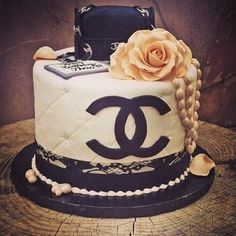 Chanel themed party or chanel themed bridal shower cake