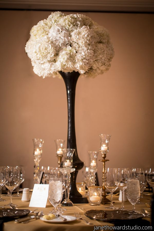 The ultimate chanel themed bridal shower Wedding shower centerpieces