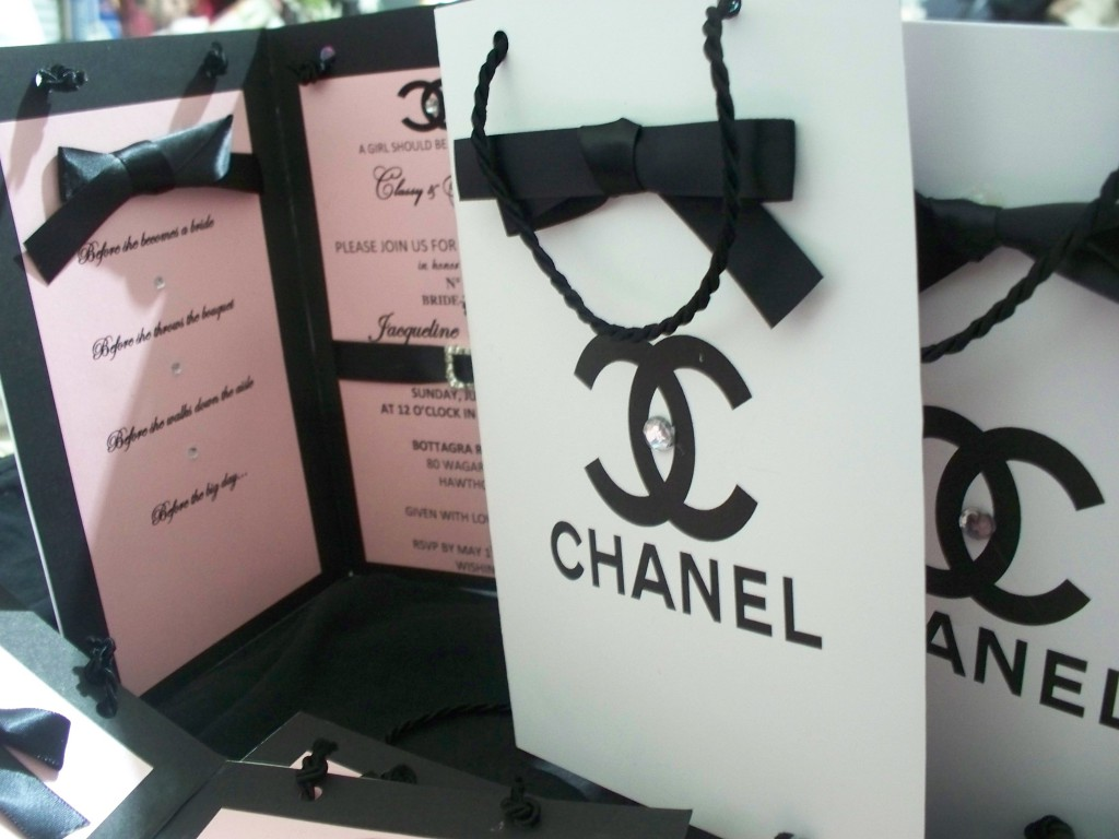 Chanel Themed Bridal Shower and Party Invitations