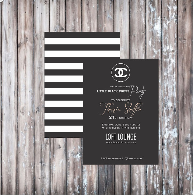 Chanel themed party localpartyplanner blog chanel themed bridal shower and party invitations filmwisefo
