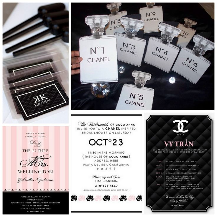 The ultimate chanel themed bridal shower localpartyplanner blog chanel themed bridal shower and party invitations filmwisefo