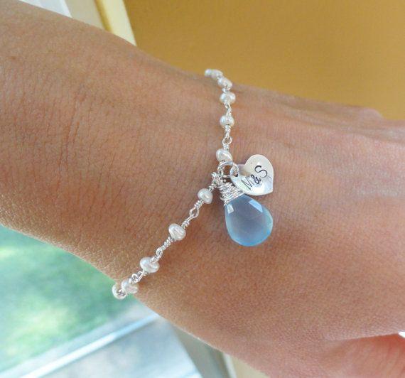 Creative Something Blue Wedding Day Ideas Bracelet